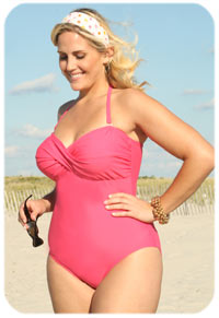Twist Front Bandeau One Piece Swimsuit
