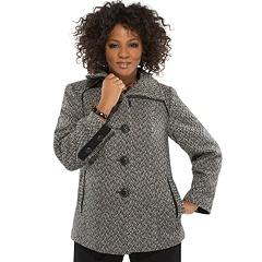Herringbone Coat Plus Size 14-32