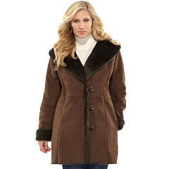plus size sueded coat