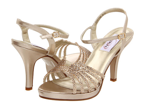 Gold prom shoe dyeables leah adorned with glittering accent on the