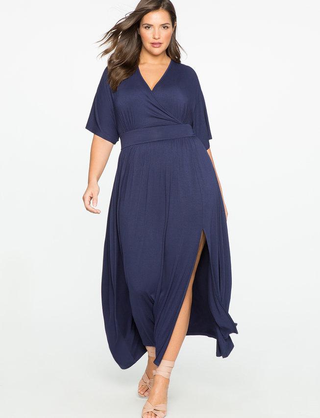 Kimono-Sleeve-Maxi-Dress